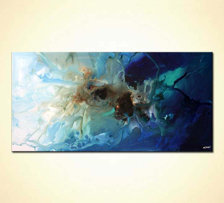 Painting For Sale Large Blue Abstract Decor Wall Sea