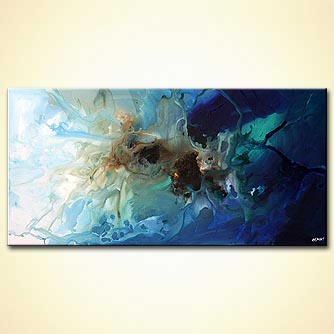 modern abstract art - Creatures of the Sea