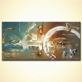 Abstract painting - Future City