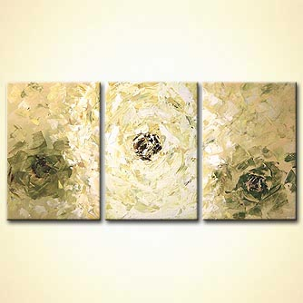 modern abstract art - White Blossom