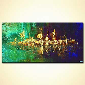 Abstract painting - By the River Shore