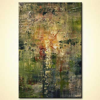 Abstract painting - The Wall
