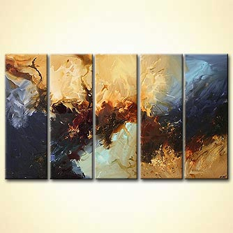 Abstract painting - Leaving Earth