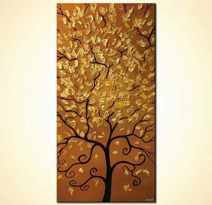 modern abstract art - The Tree of Prosperity