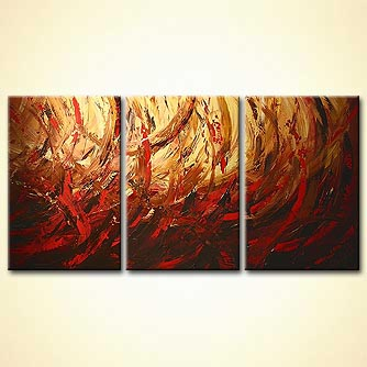 Abstract painting - Golden