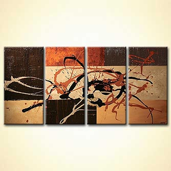 Abstract painting - The Address is on the Wall