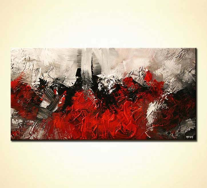 Painting For Sale Red Abstract Painting Dark White