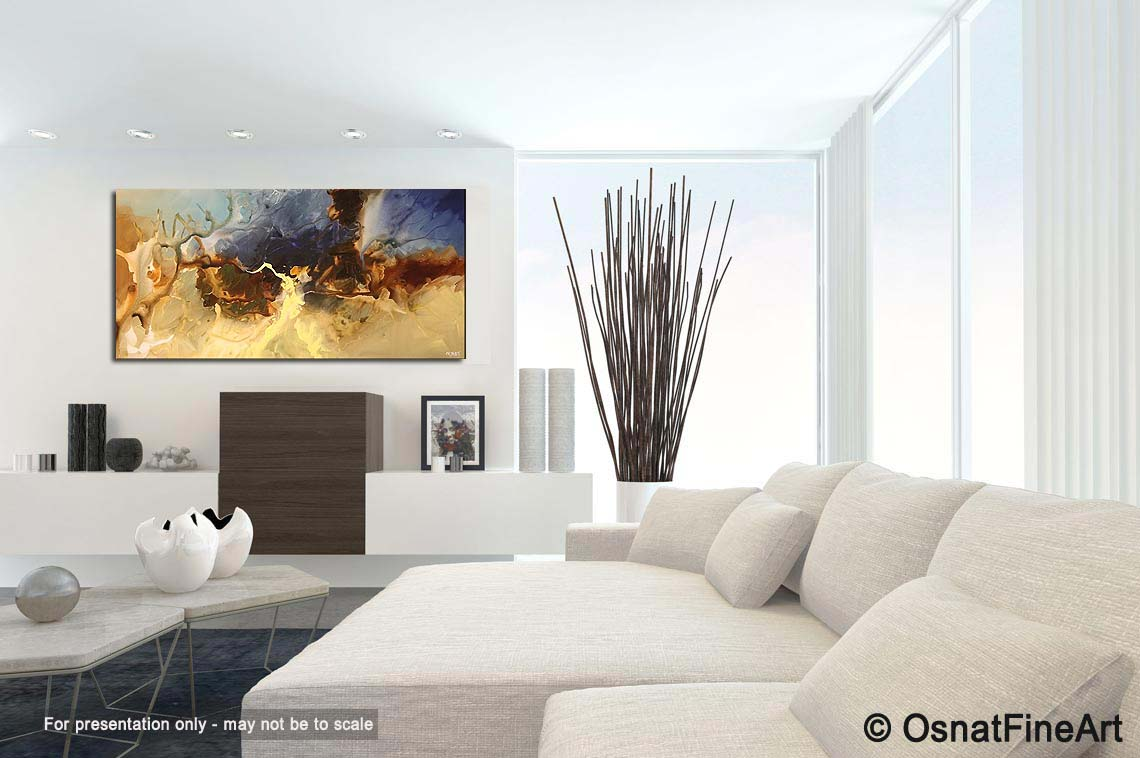 Abstract Painting - Horizontal Abstract Painting Living Room #5313