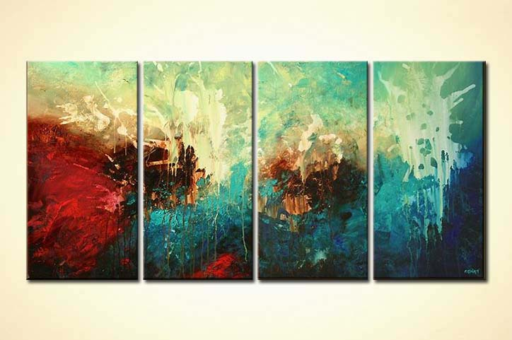 Painting For Sale Modern Painting In Turquoise Red And