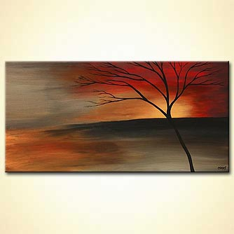 Landscape painting - Reaching