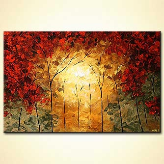 Landscape painting - Into the Light