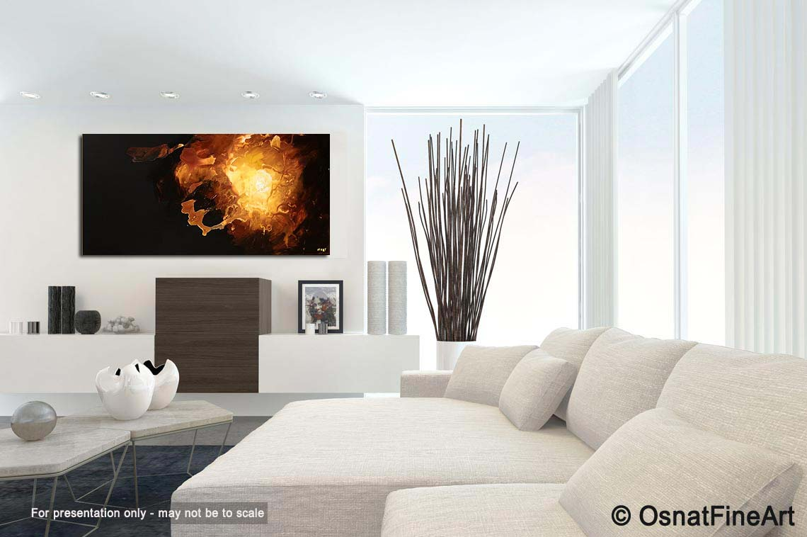 abstract painting - dark living room painting home decor start #5367