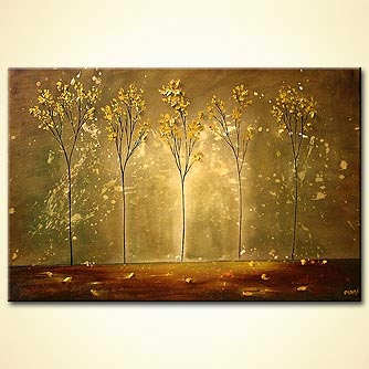 Landscape painting - Golden Memories