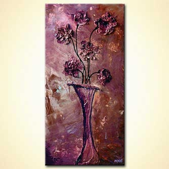 Floral painting - Treasure in My Vase