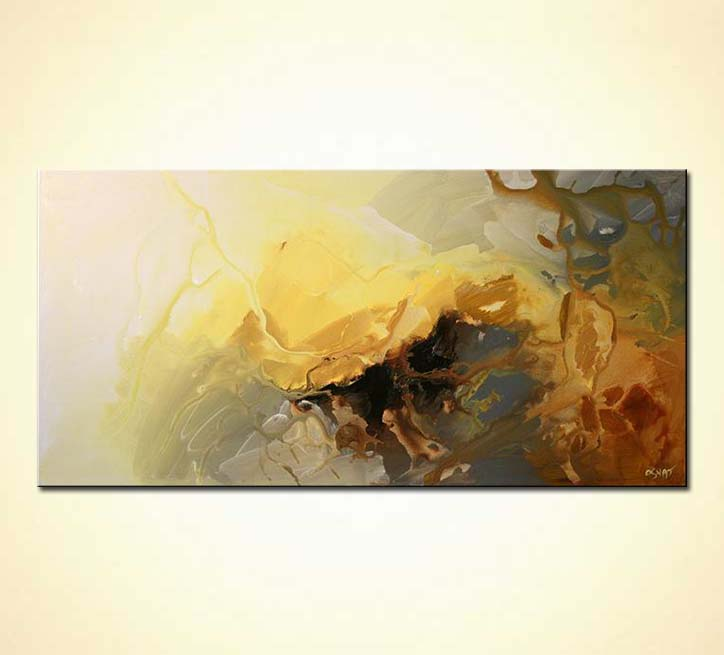 Painting - modern abstract living room decor soft #5356