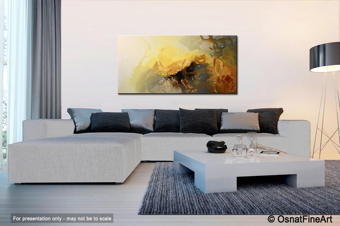 abstract painting modern abstract living room decor soft