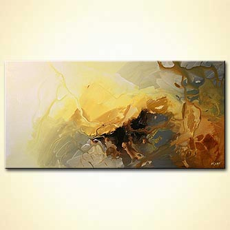 Abstract painting - The Yellow Man Cave