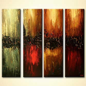 modern abstract art - The Four Elements