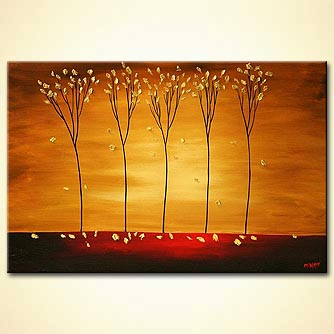 Landscape painting - When the Wind Blows
