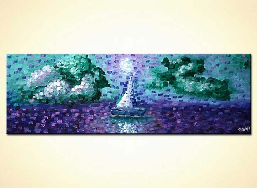 Painting For Sale Narrow Horizontal Textured Seascape 5351