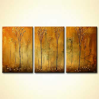 modern abstract art - Golden Fall