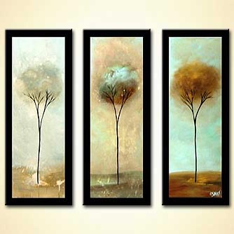 Landscape painting - Three Trees