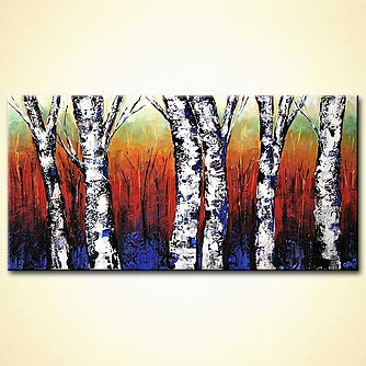 Forest painting - The Forest Keepers