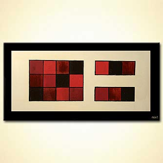 abstract of squares room decor border geometric
