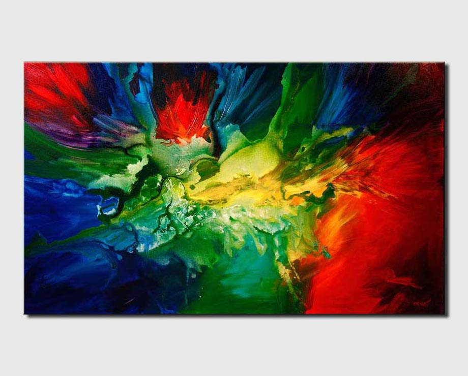 bold colorful modern painting