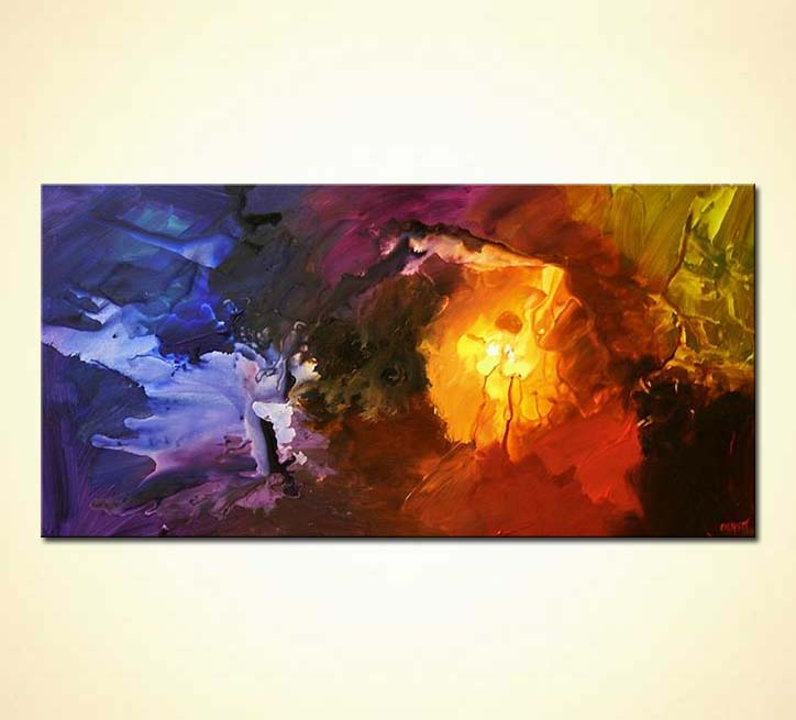 """36"""" Lost Star - PRINT on canvas STRETCHED & EMBELLISHED ..."""