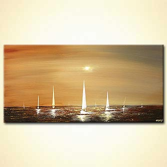 Seascape painting - If You be My Boat I Will be Your Sea