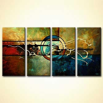 modern crop circles painting multi panel