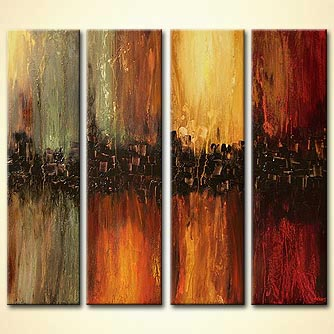 Abstract painting - Four Pillars of the Earth