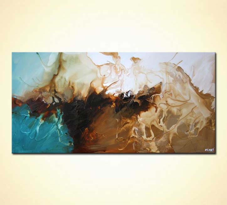 Painting Soft Modern Abstract Painting Earth Tones 5465