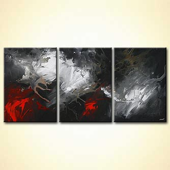 Abstract painting - Light Over Darkness