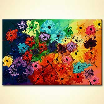 Floral painting - Garden of Eve