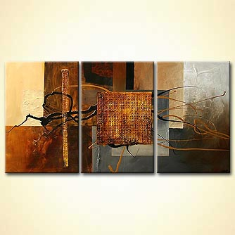 contemporary painting brown colors