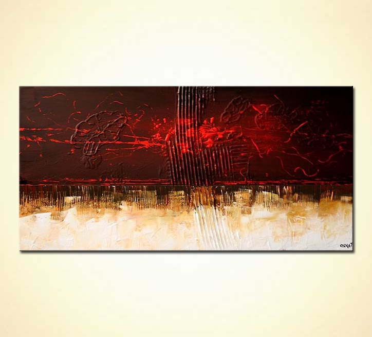 Abstract painting contemporary painting home decor for Contemporary mural art