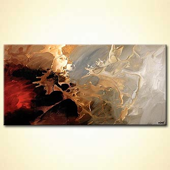 Abstract painting - When the Wind Whispers