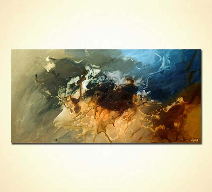 Modern Wall Art By Osnat Fine Art: Buy Modern Abstract Painting Home Decor Earth Tones #5492