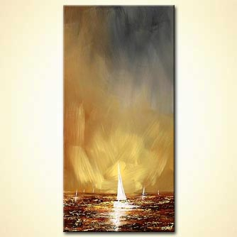 Seascape painting - Abstract Sky