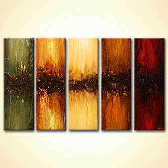 Abstract painting - Pillars of the Earth