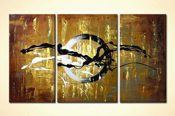 Buy Abstract Circle Triptych Home Decor Target 5520