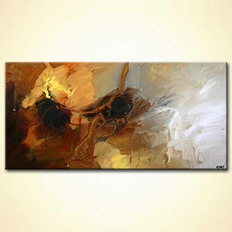 modern abstract art - The Golden Horse