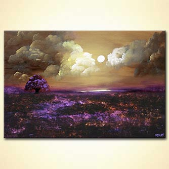 Landscape painting - Fields of Lavender