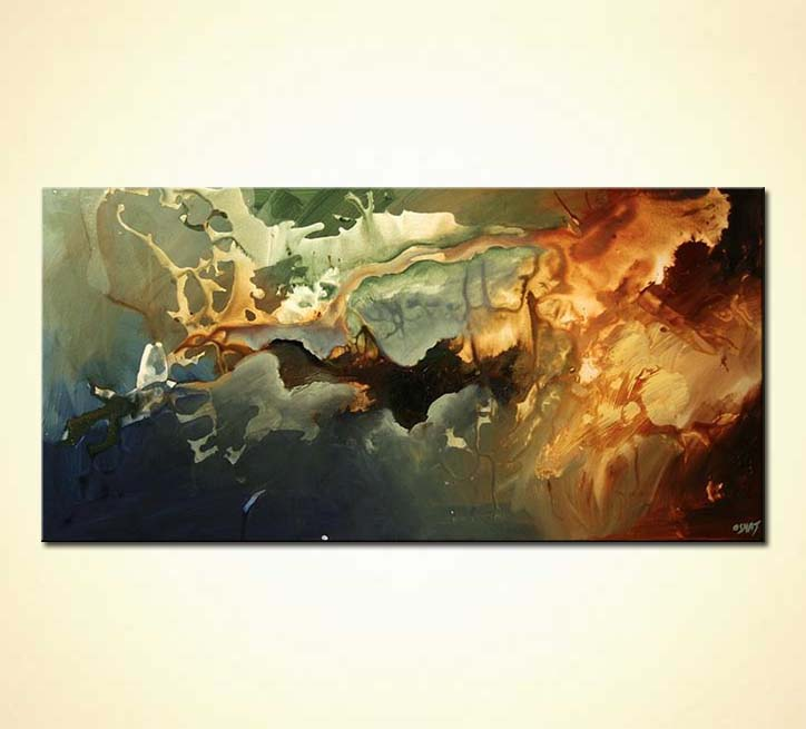 Painting Large Modern Abstract Home Decor Splash 5529