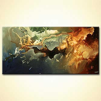 Abstract painting - The New Continent