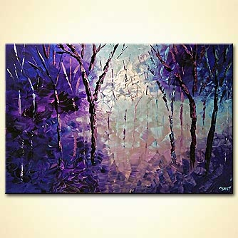 Forest painting - Lilac
