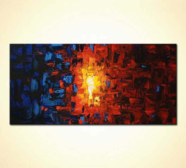 buy textured abstract blue and red horizontal light 5519