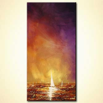 modern abstract art - White Sail